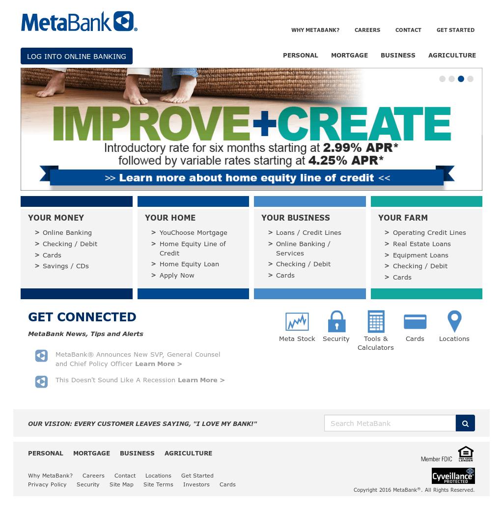 MetaBank Logo - LogoDix
