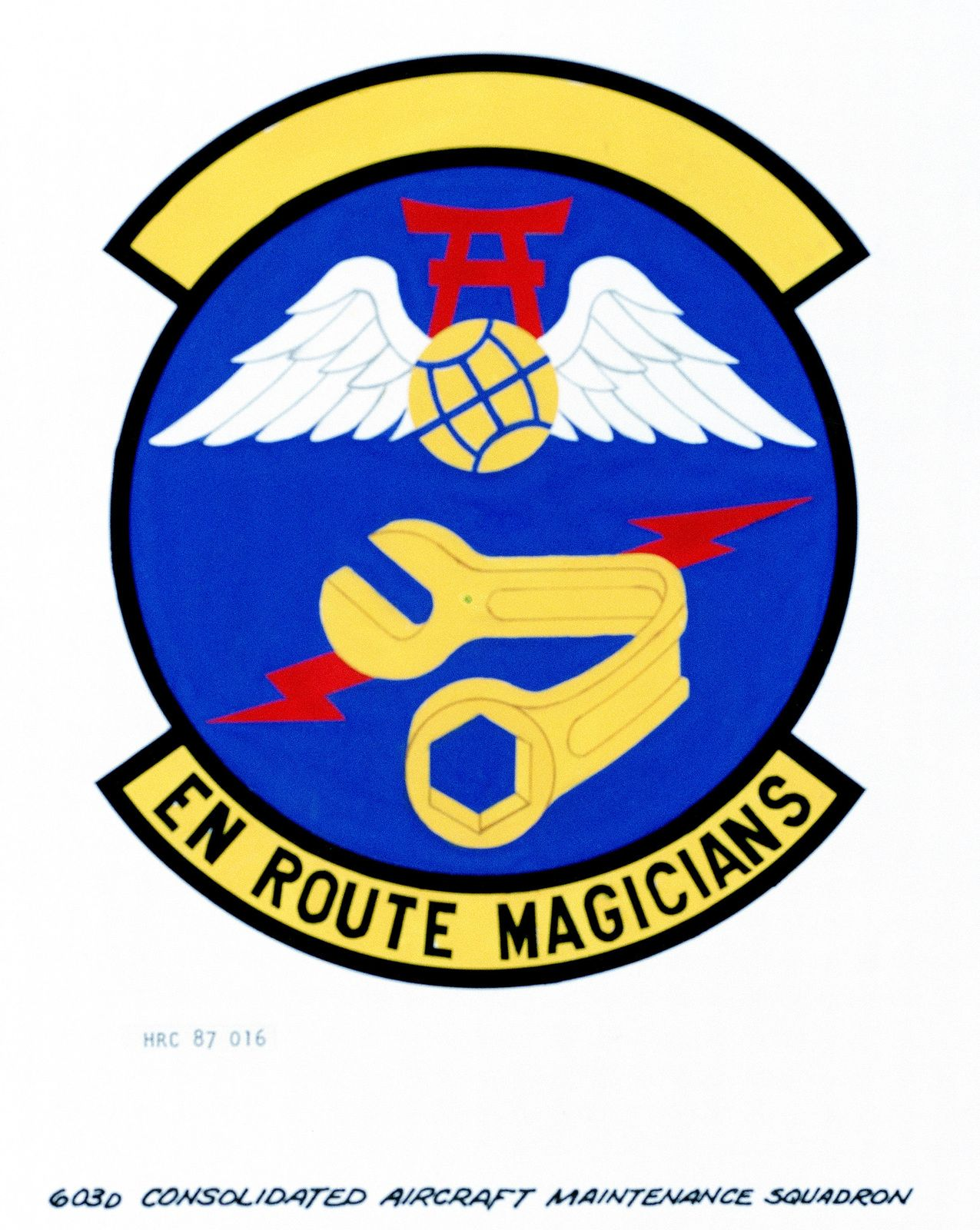 603rd Logo - Approved insignia for: 603rd Consolidated Aircraft Maintenance ...