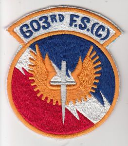 603rd Logo - Wartime 603rd F.S.(C) Patch / USAF Insignia Fighter Squadron | eBay