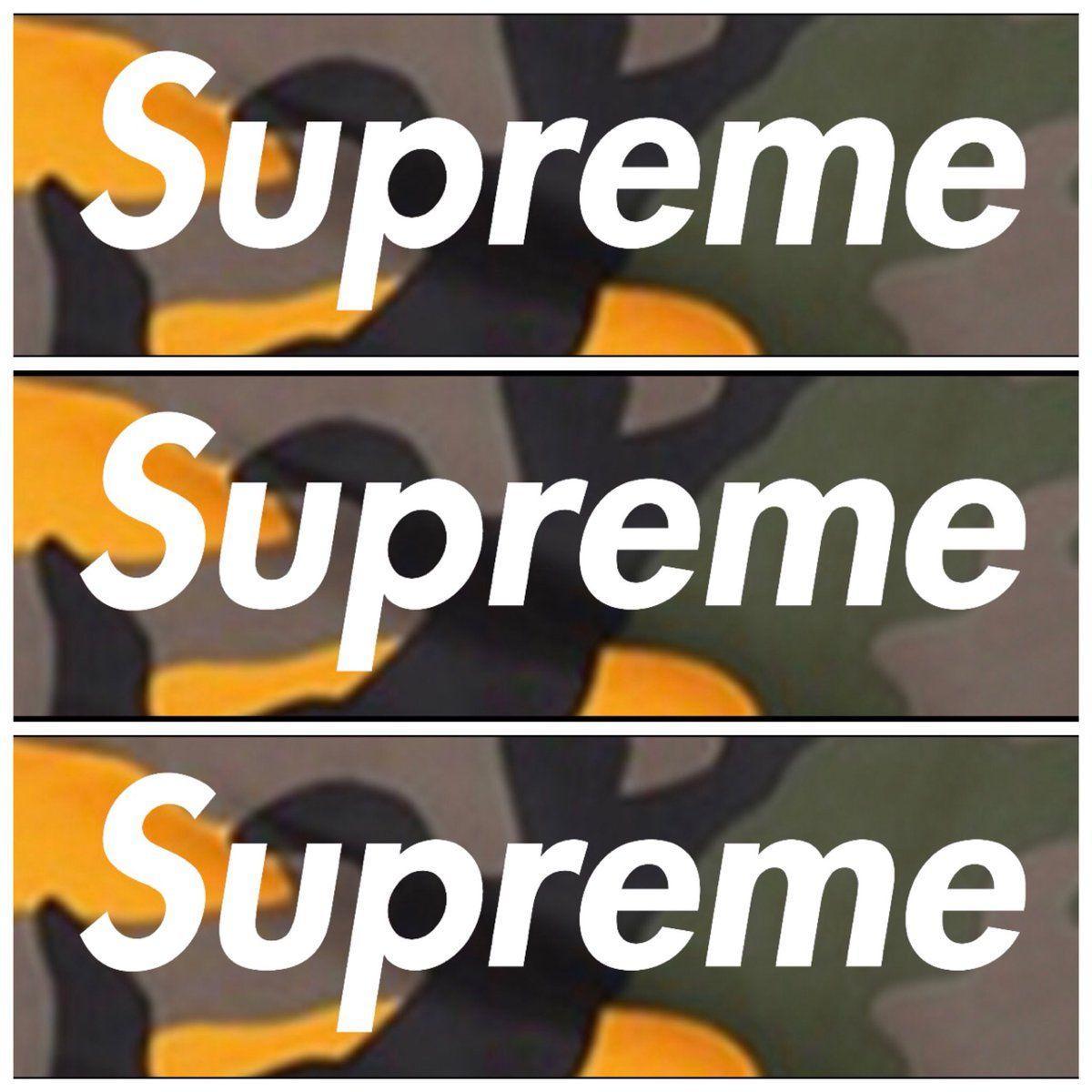 4ad7f05c0ff Orange Camo Supreme Logo - J on Twitter
