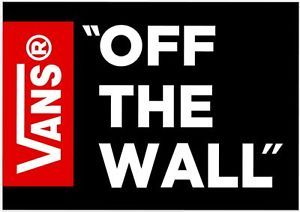 Vans Logo - Vans Logo Vinyl Decal Stickers Skateboard Clothing Ski Skate Car ...