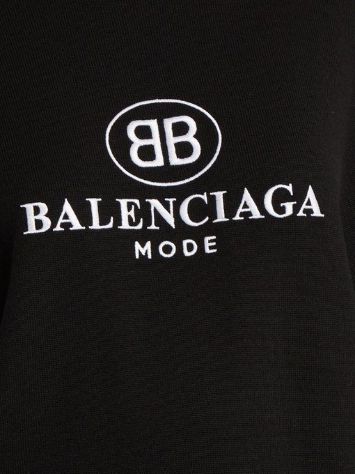 Balenciaga Logo - Logo-embroidered wool sweater | Balenciaga | MATCHESFASHION.COM US