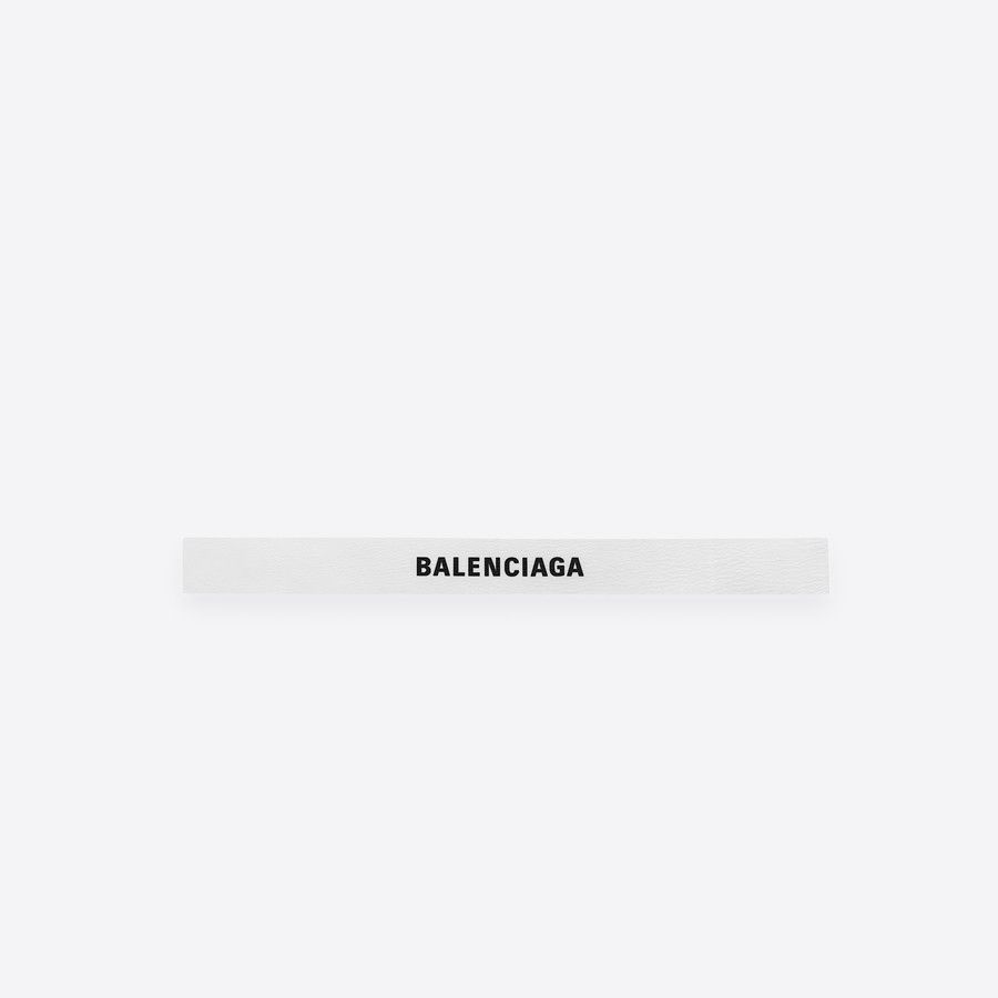 Balenciaga Logo - Men 's White / Black Logo Belt | Balenciaga