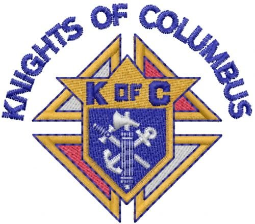 KofC Logo - Knights Of Columbus Embroidery Design