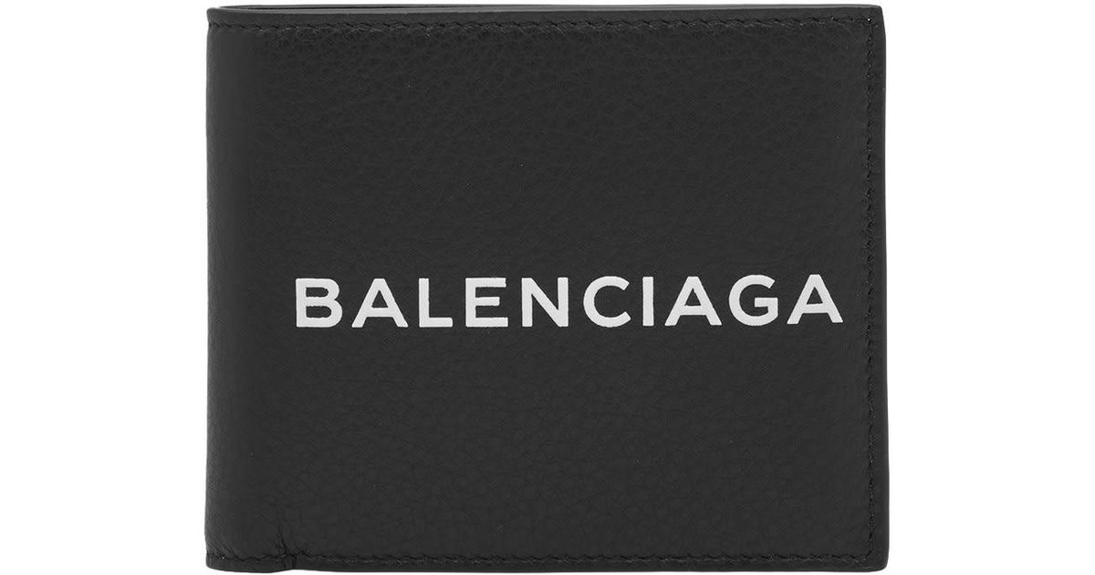 Balenciaga Logo - Balenciaga Logo Billfold Wallet in Black for Men - Lyst