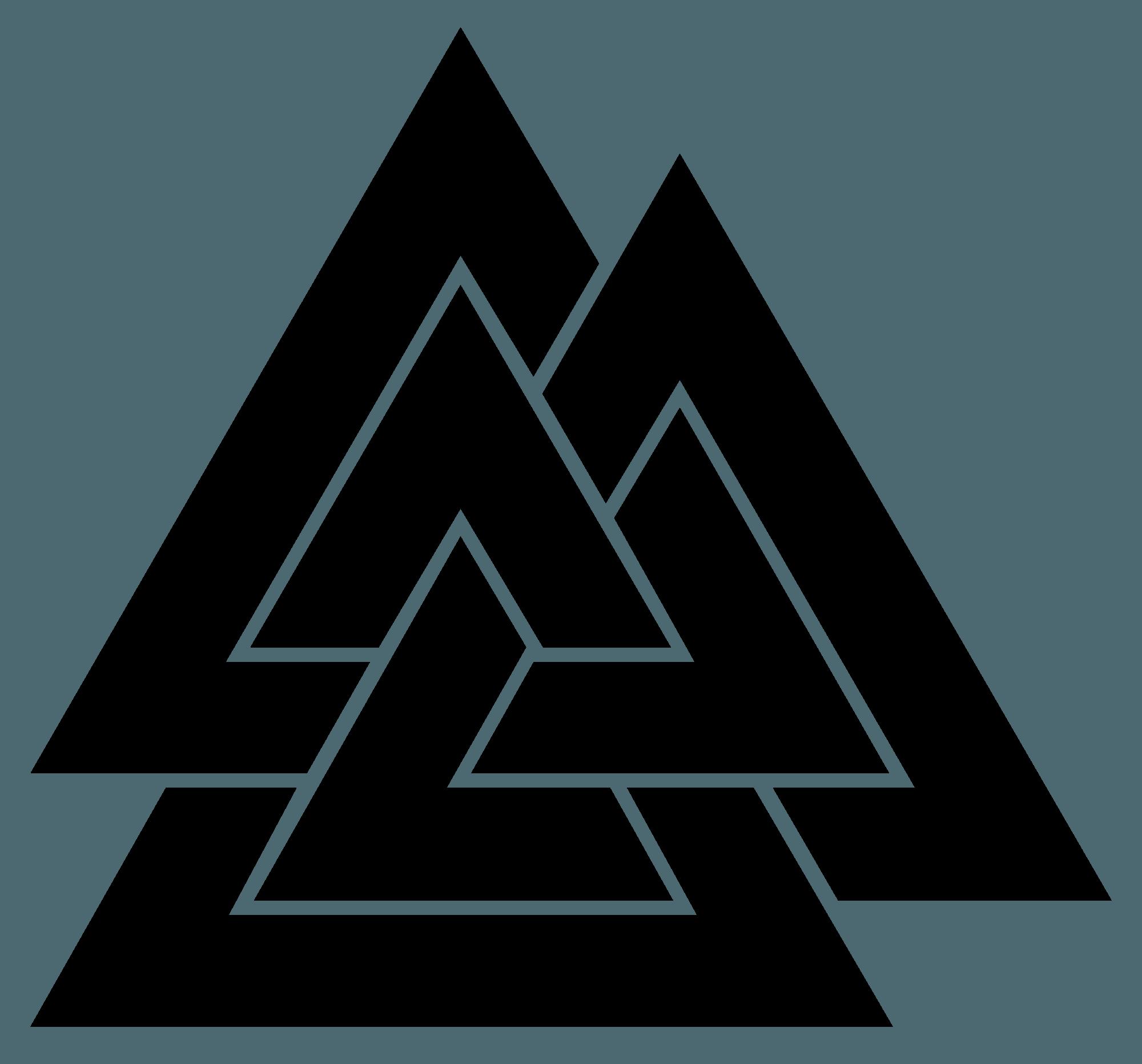 Triforce triangular logos. Three triangles logo logodix