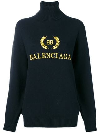 Balenciaga Logo - Balenciaga logo embroidered turtleneck sweater $1,290 - Buy SS19 ...