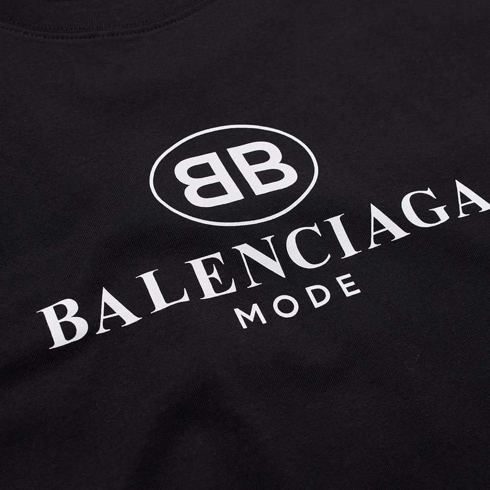 Balenciaga Logo - Lyst - Balenciaga Mode Logo Tee in Black for Men
