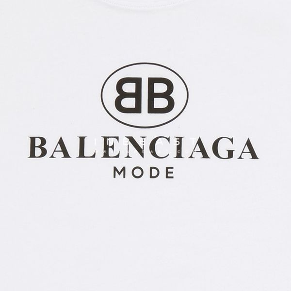 Balenciaga Logo - White Cotton BB Mode T-Shirt - inBeast Collection