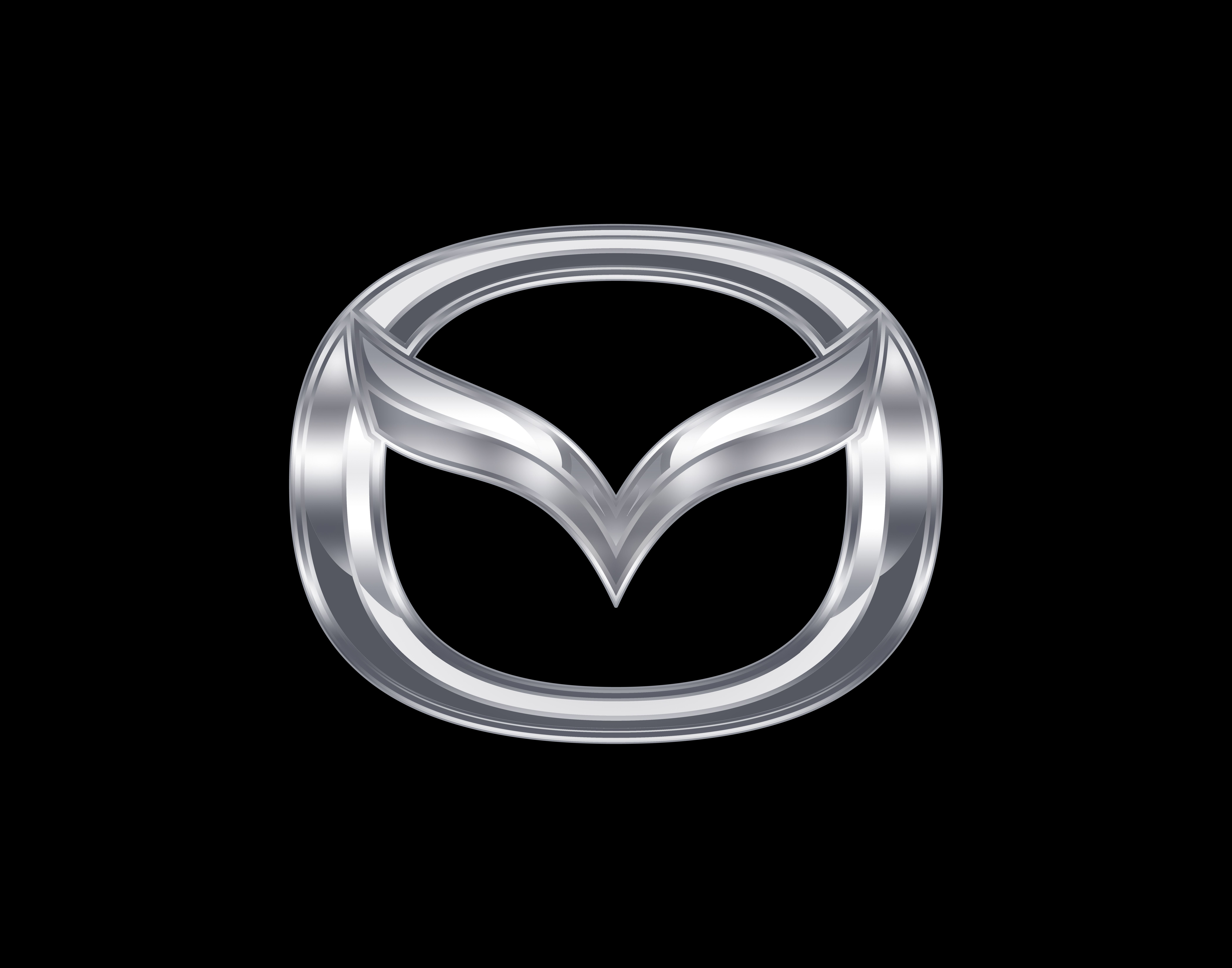 Black and Silver Car Logo - Mazda Logo, Mazda Car Symbol Meaning and History | Car Brand Names.com