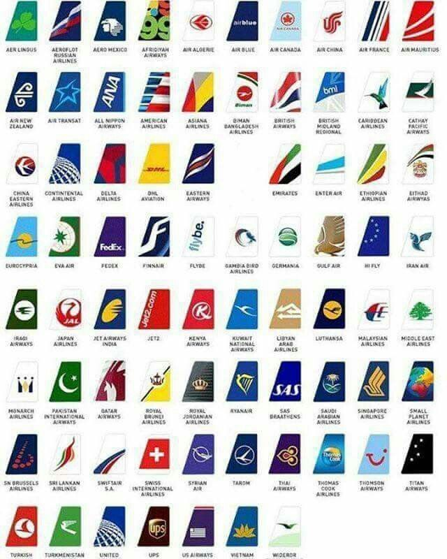Airplanes Logo - Airlines - tail logo | Airliners | Aircraft, Airline logo ...