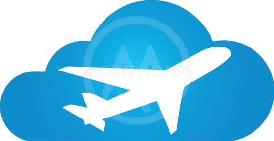 Airplanes Logo - Airplane and cloud, airplan...