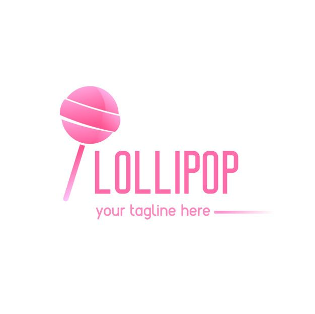 Lollipop Logo - Pink logo with a lollipop Vector | Free Download