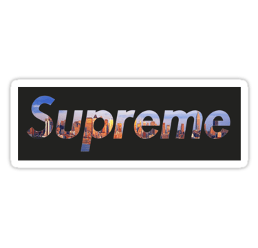 Cool Supreme Logo - cool design of supreme logo with new york skyline in the background ...