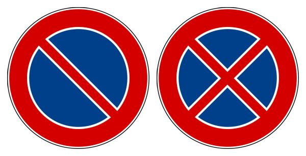 Blue Red Circle with Line Logo - Driving in Italy: Italian Road Signs :: Italy Explained