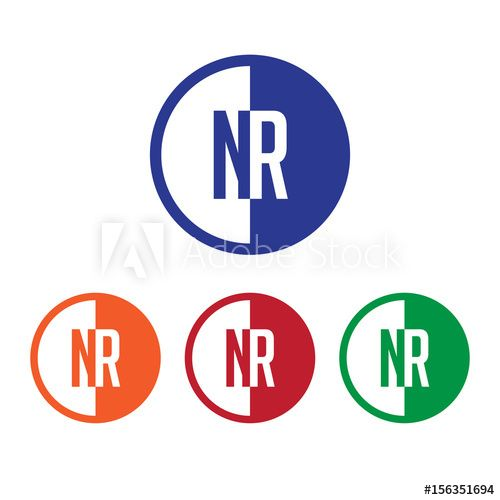 Blue Red Circle with Line Logo - NR initial circle half logo blue,red,orange and green color - Buy ...