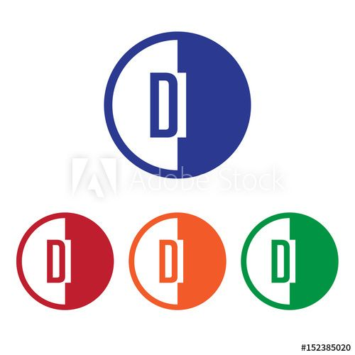 Blue Red Circle with Line Logo - DI initial circle half logo blue,red,orange and green color - Buy ...