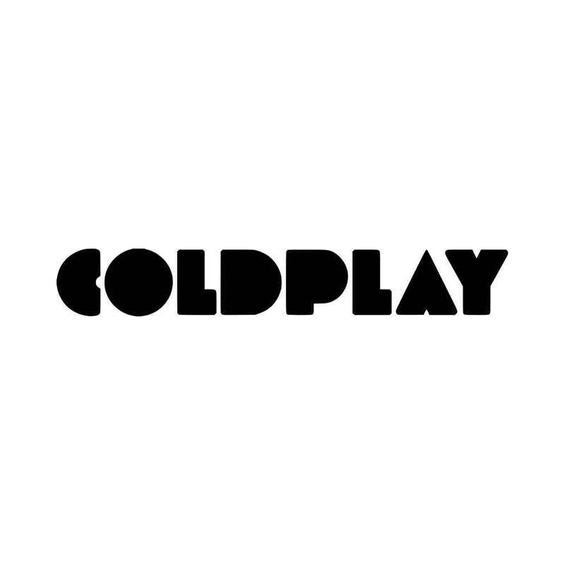 Coldplay Logo - Coldplay Band Logo Vinyl Decal Sticker