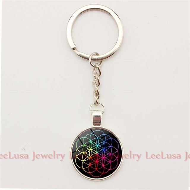 Coldplay Logo - Popular Music Band Coldplay Logo Key Chain Glass Dome Pendant Alloy ...