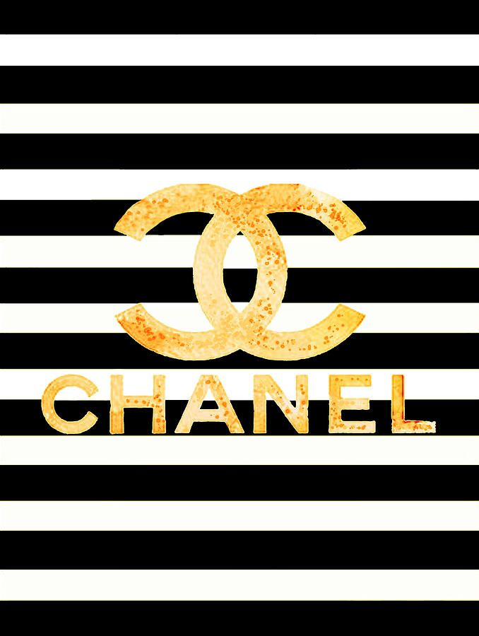 Chanel Logo - Chanel Logo Yellow Painting by Del Art