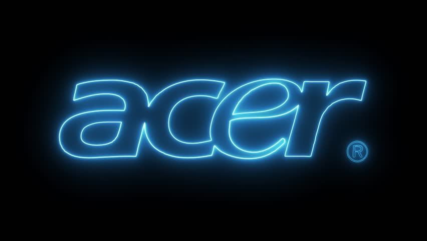 Acer Logo - Acer Logo with Neon Lights. Stock Footage Video (100% Royalty-free ...