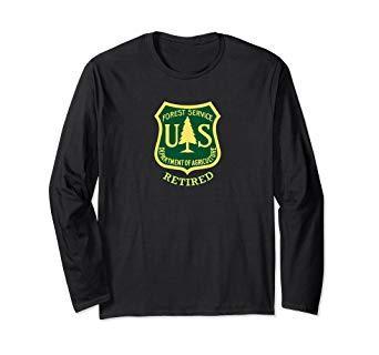 USFS FOREST SERVICE Agriculture Dept Black w White Logo Short Slv MORALE T-Shirt