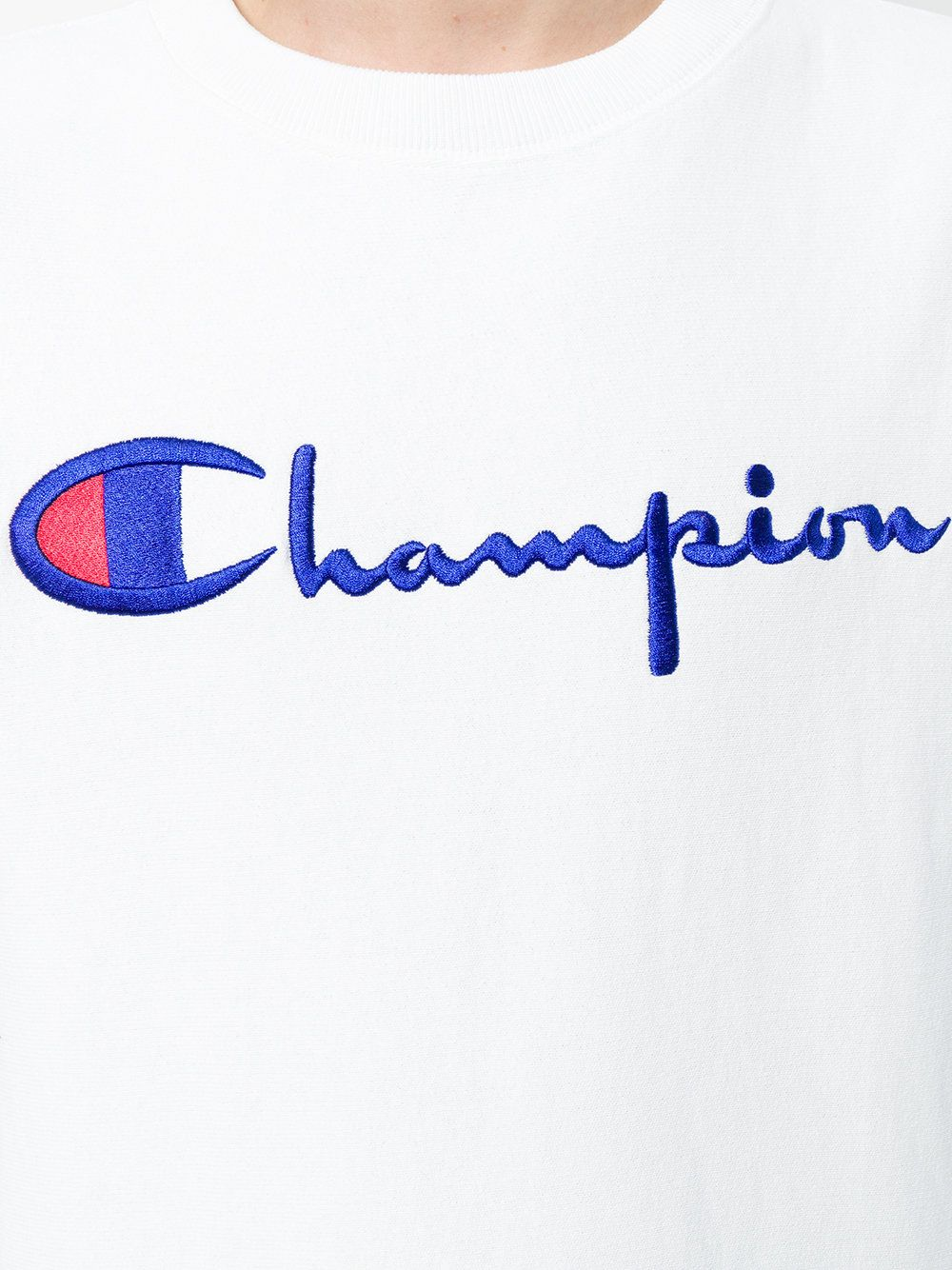 Champion Logo - Champion logo-embroidered Sweatshirt
