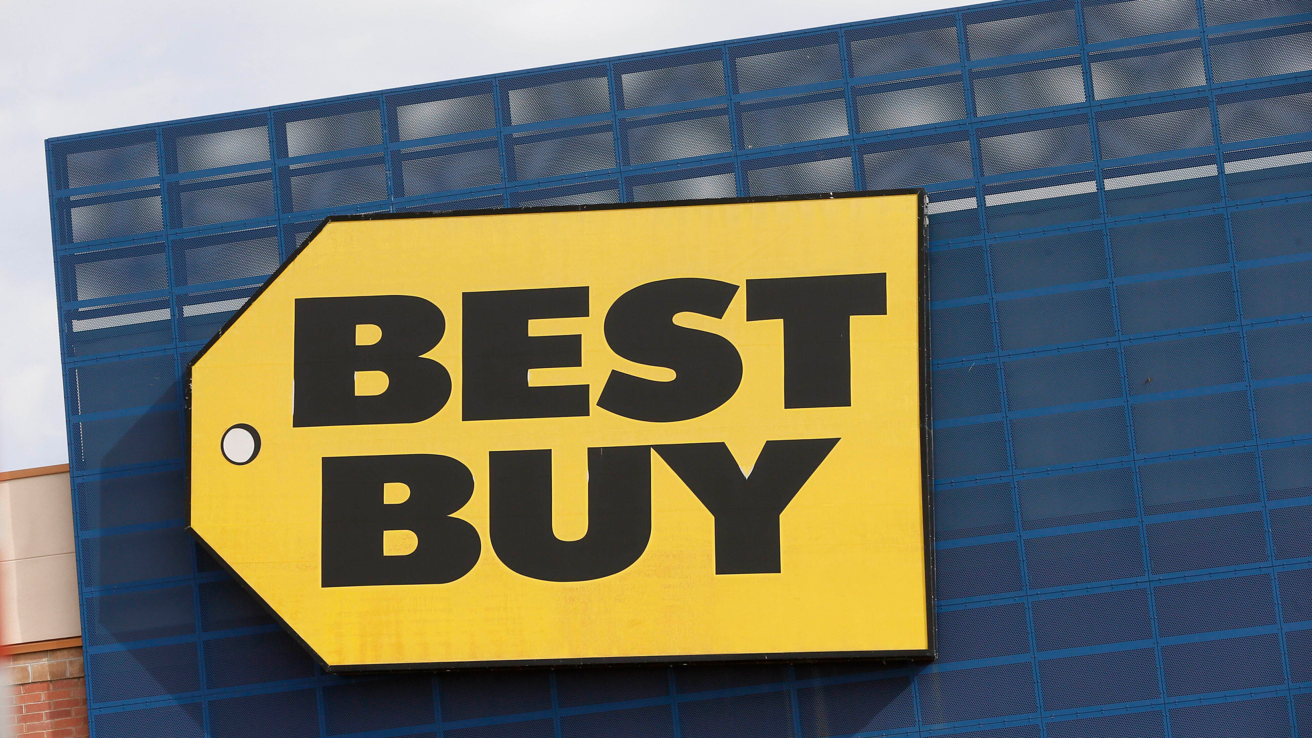Best Buy Logo - No customers inside Best Buy stores, switching to curbside service ...