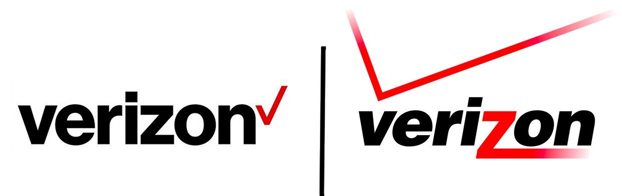 Verizon Logo - How to tell if your logo design is Lazy – The Startup – Medium