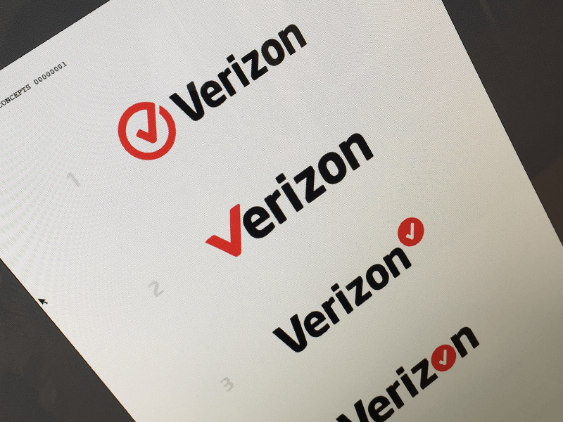 Verizon Logo - Verizon Logo by David Kovalev | Dribbble | Dribbble