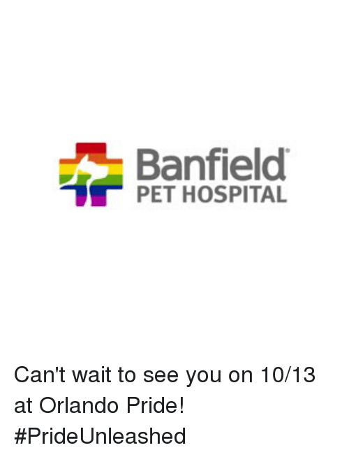 Banfield Pet Hospital Logo - Banfield PET HOSPITAL Can't Wait to See You on 1013 at Orlando Pride ...
