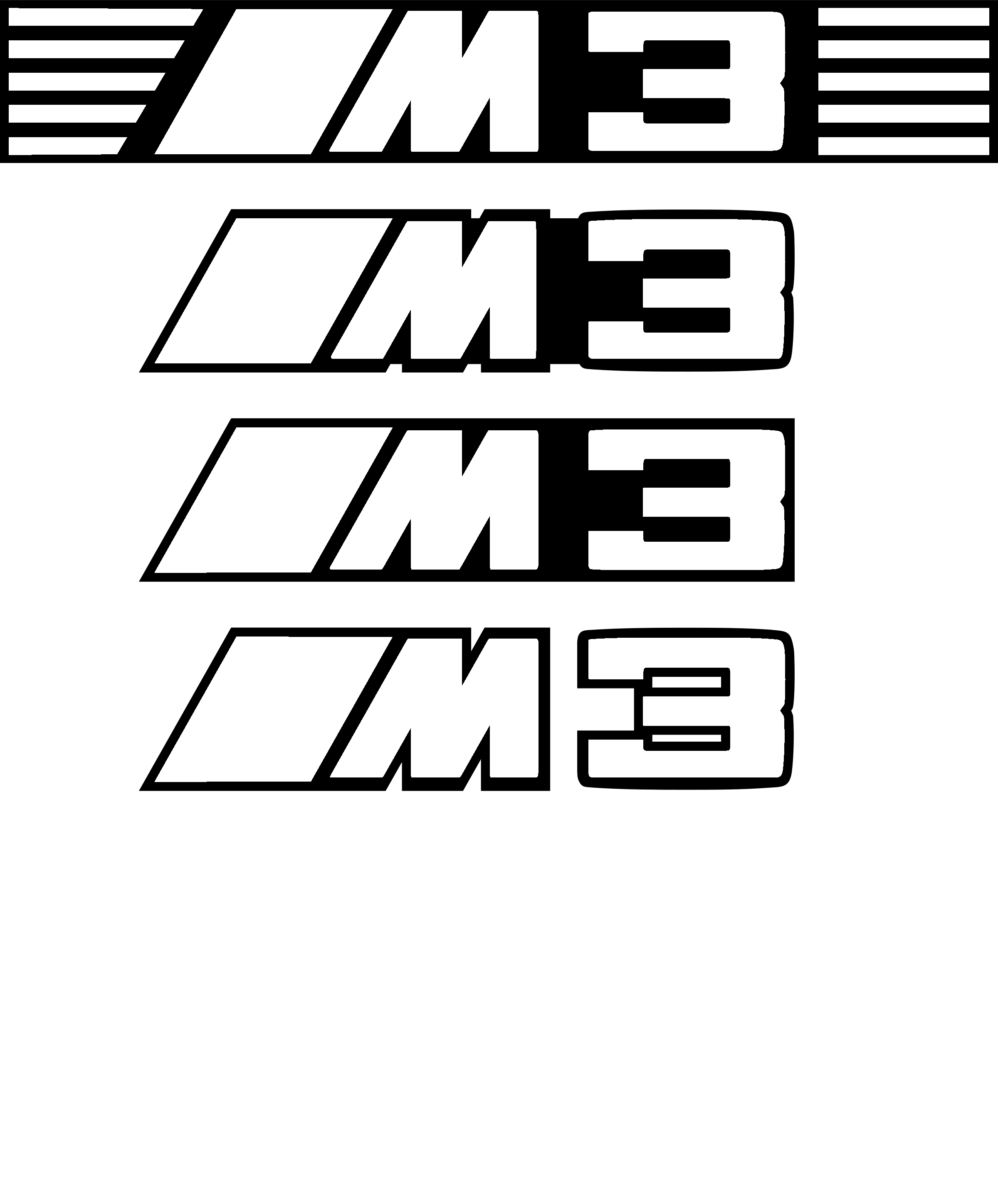 Black and White BMW M3 Logo - BMW M3 Logo PNG Transparent & SVG Vector - Freebie Supply