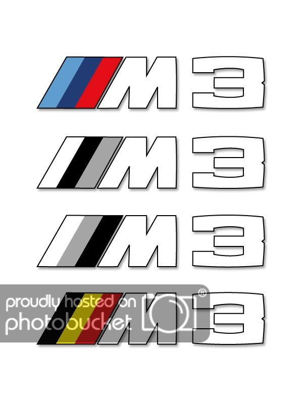 Black and White BMW M3 Logo - BMW M3 Car Mats - Much Interest In Having These Made? | Page 3 | The ...