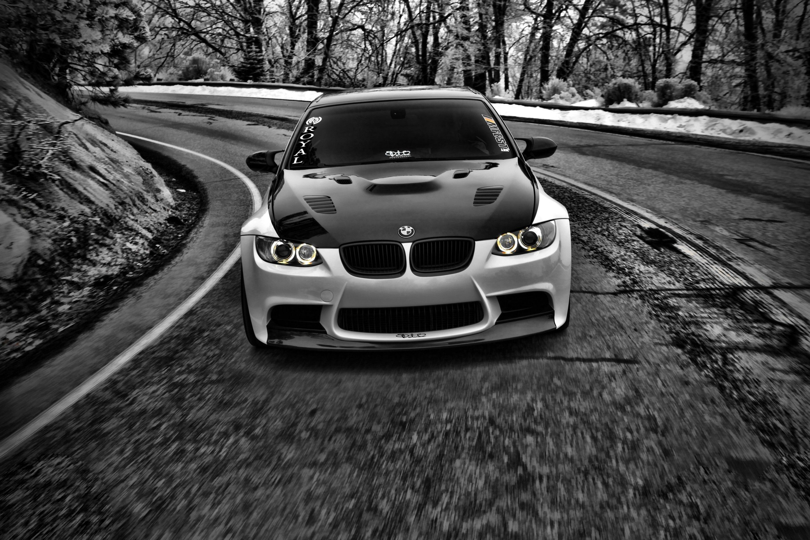 Black and White BMW M3 Logo - Black and white cars grayscale bmw m3 wallpaper | AllWallpaper.in ...