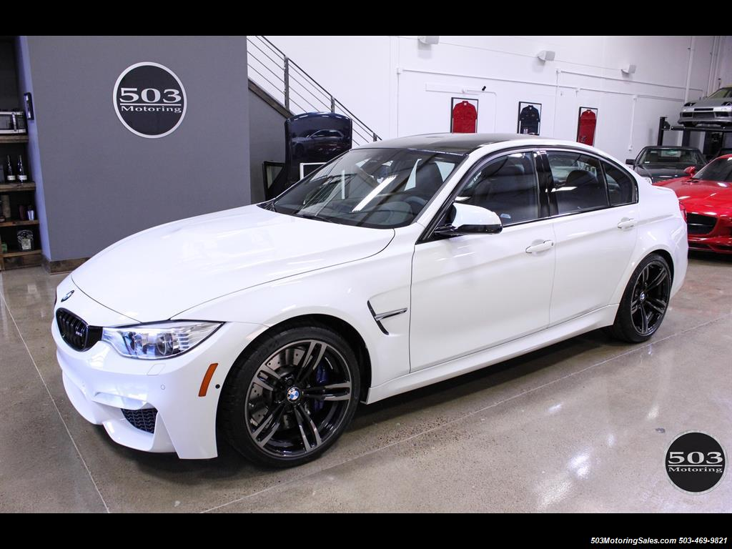 Black and White BMW M3 Logo - 2016 BMW M3 Like New in Alpine White/Black w/ Only 2,150 Miles