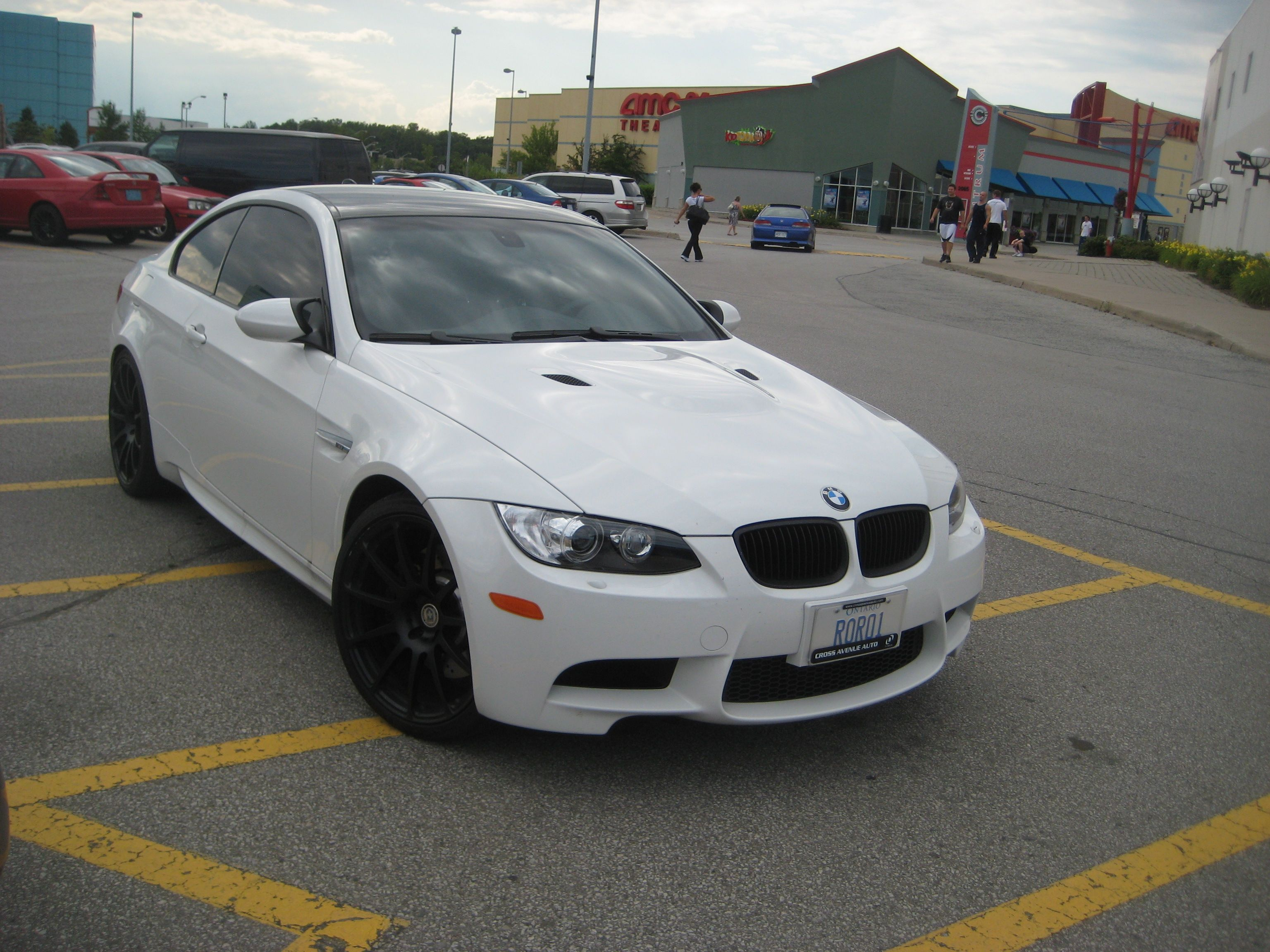Black and White BMW M3 Logo - White BMW M3 Coupe with Black HRE rims - 3 | MadWhips