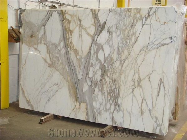 Marble Slab Logo - Calcutta Gold Marble Slab, Italy White Marble from United States ...