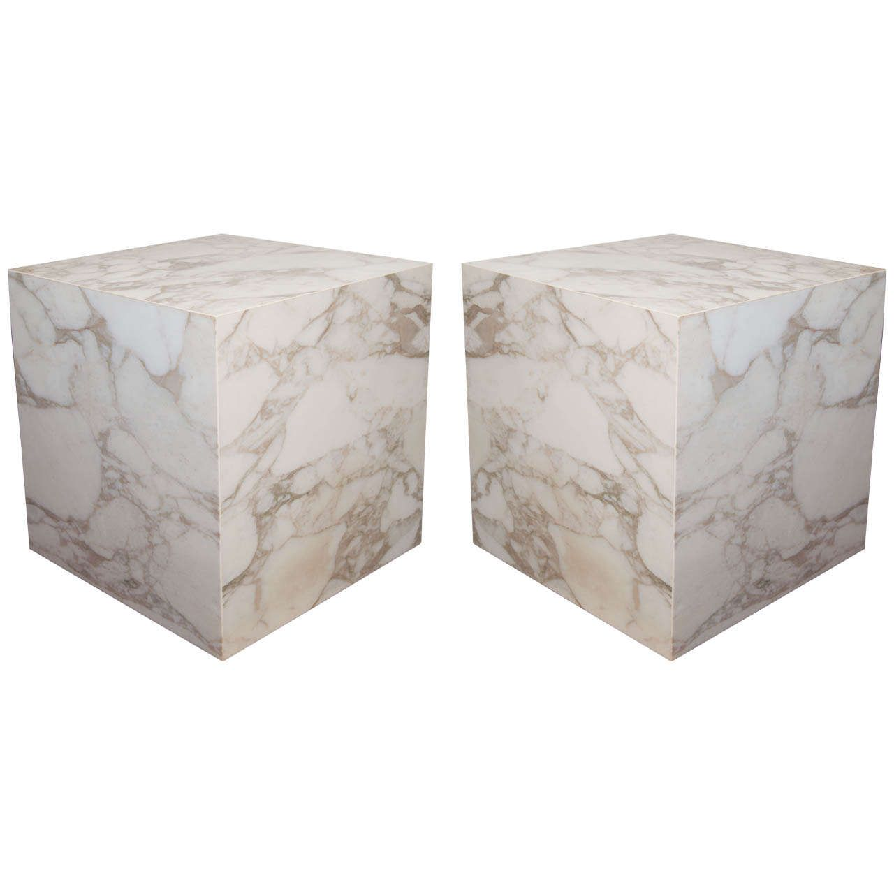 Marble Slab Logo - A Mid Century Pair of Cube Form Solid Marble Slab End or Side Tables ...