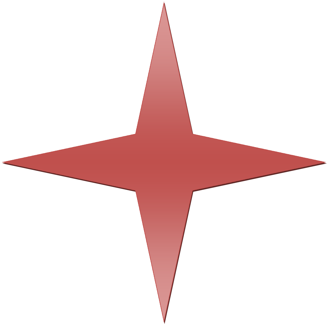 The Red Point Star Logo - File:Red Gradient 4 Point Star.png - Wikimedia Commons