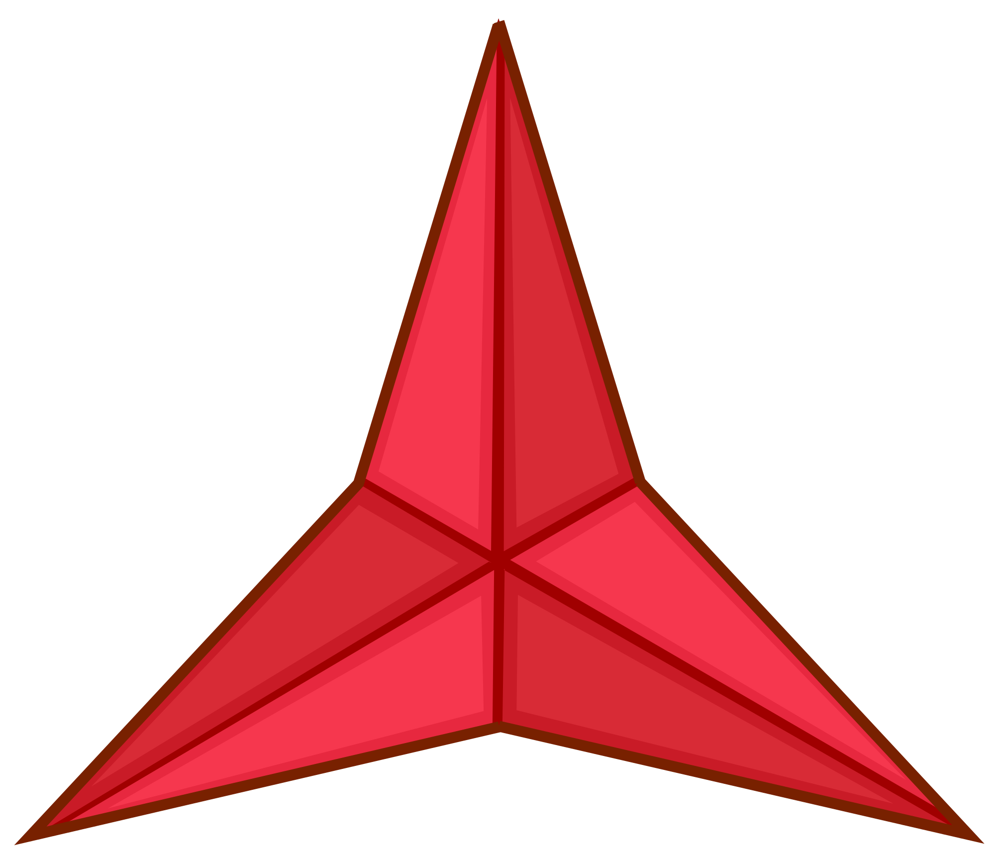 The Red Point Star Logo - Red three pointed star Logos