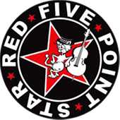 The Red Point Star Logo - RED FIVE POINT STAR - Rock / Ska / Swing