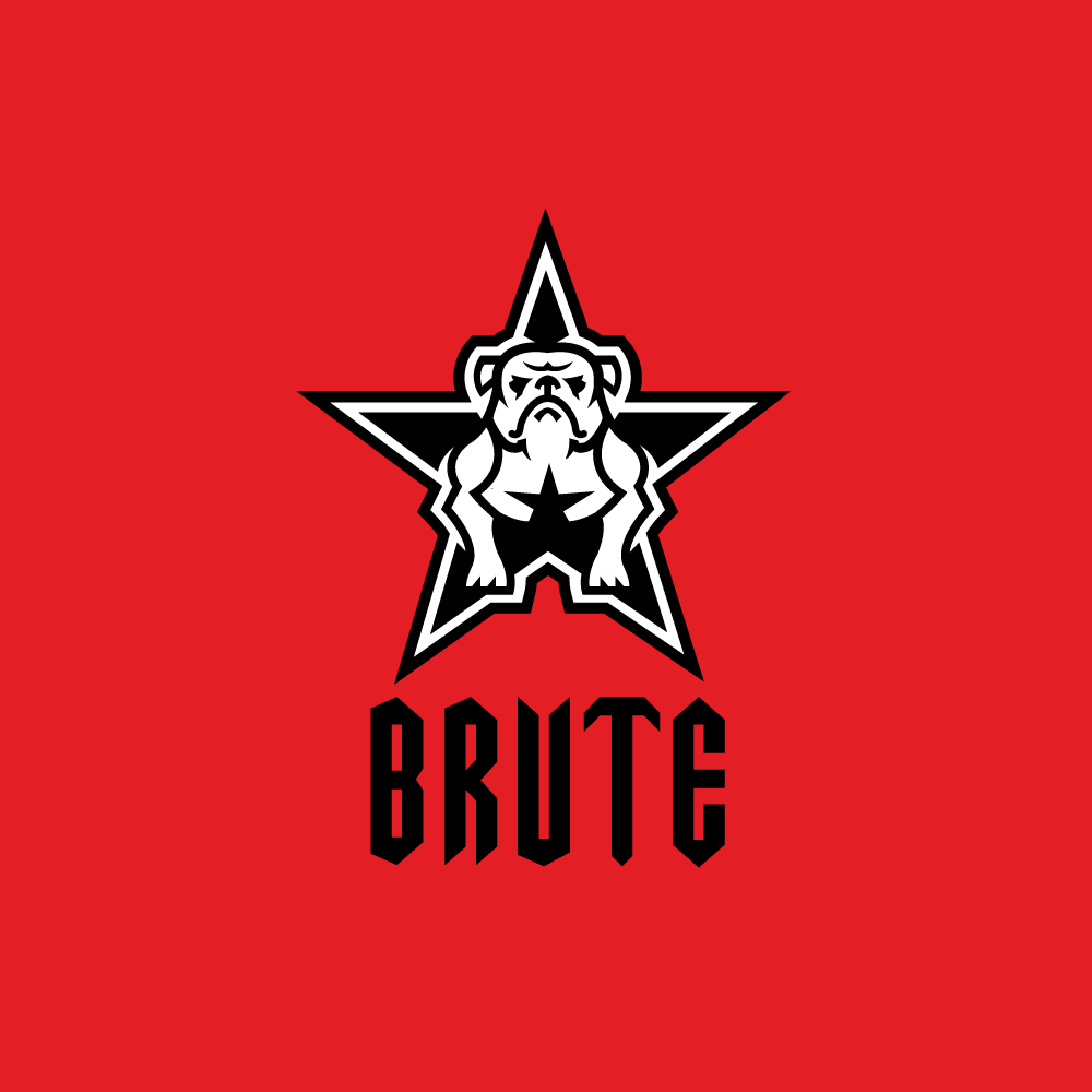 The Red Point Star Logo - For Sale: Brute Bulldog Star Logo | Logo Cowboy
