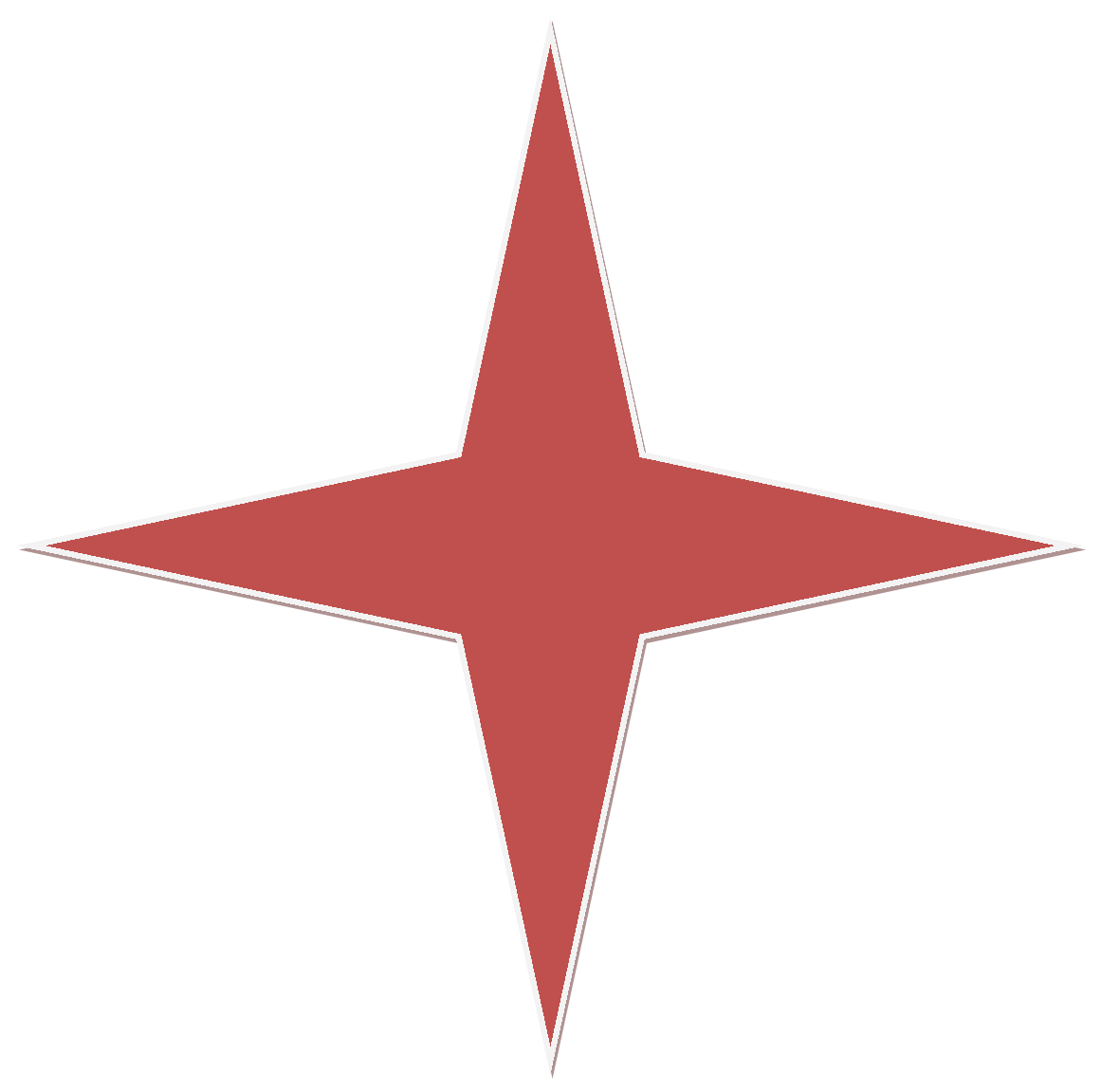 The Red Point Star Logo - File:Red 4 Point Star.png - Wikimedia Commons
