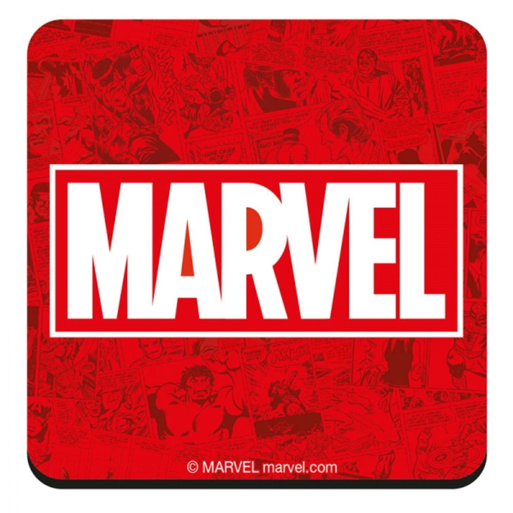 Marvel Logo - MARVEL LOGO COASTER RETRO DRINKS MAT MARVEL COMICS AVENGERS FILM ...