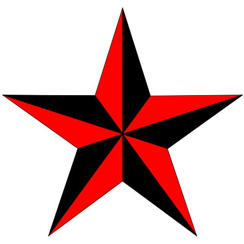The Red Point Star Logo - 5 point star pattern | Can anyone help me understand this phenomenon ...