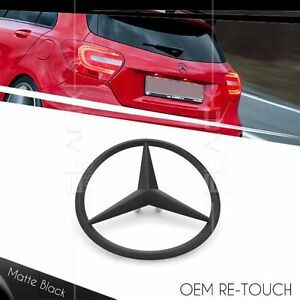 The Red Point Star Logo - OEM 3 POINT REAR MATTE BLACK STAR LOGO EMBLEM FOR MERCEDES BENZ A ...