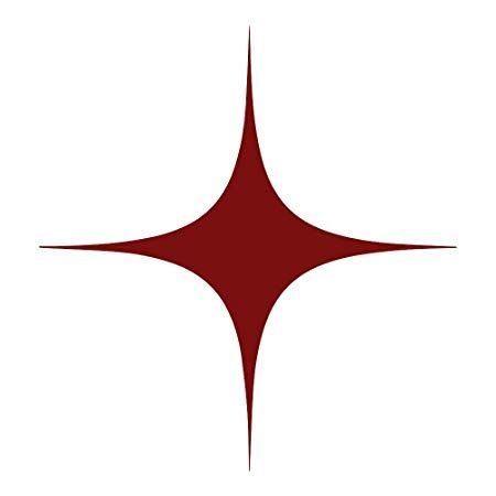 The Red Point Star Logo - azutura Four Point Star Wall Sticker Pack Space Planets Wall Decal ...