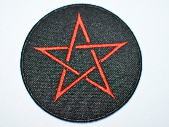 The Red Point Star Logo - 5 Point Star 3 Iron-on Embroidered Clothing Patch | Etsy