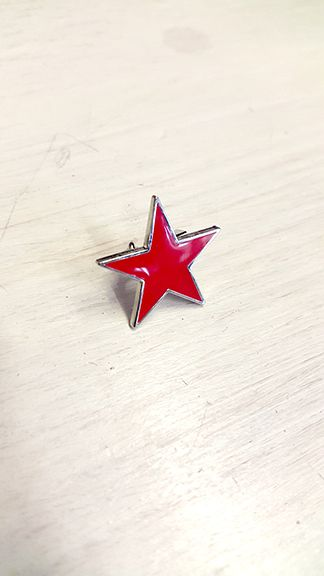 The Red Point Star Logo - Red Star - Socialist (Five Point) Badge - Calton Books