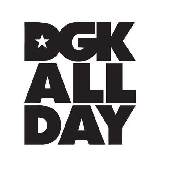 DGK Logo - DGK All Day Logo | Die Cut Vinyl Sticker Decal | Sticky Addiction
